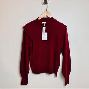 NWT Joie Deep Garnet Atilla Sweater